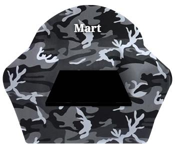 Peuterstoeltje camouflage met naam borduren