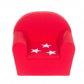 Peuterstoeltje/Kinderfauteuil Rood+ster