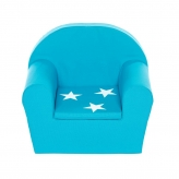 Peuterstoeltje/Kinderfauteuil Turquoise+ster